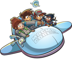 Awana kids in a spaceship